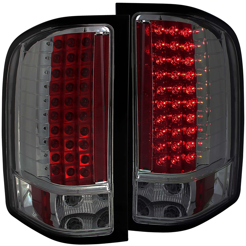Chevy Silverado 1500 2500 Hd Euro Led Tail Lights Smoked Click To Enlarge