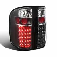 07-13 Chevy Silverado 1500 2500HD 3500HD LED Tail Lights - Black