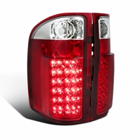 07-13 Chevy Silverado 1500 2500HD 3500HD LED Tail Lights - Red Clear
