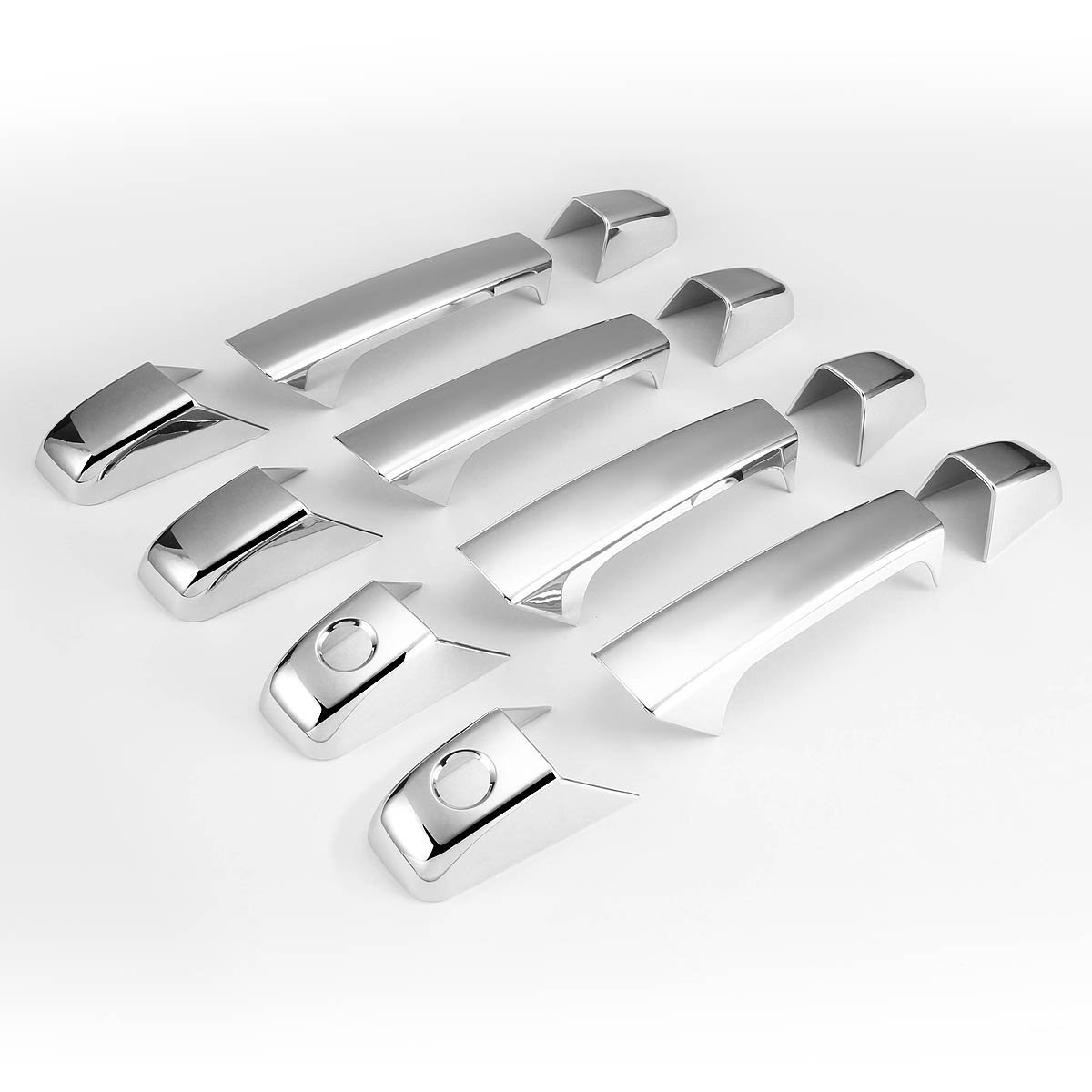 Chrome For Chevy Avalance//Silverado//Suburban//Tahoe 4pcs Exterior Door Handle Cover without Passenger Keyhole