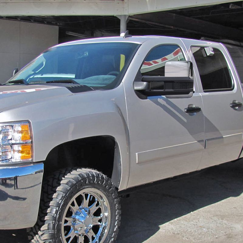 For 07-13 Silverado Sierra Chrome Towing Power+Heated+LED Signal+Backup lamp