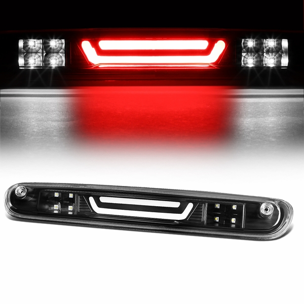 07-13 Chevy Silverado / GMC Sierra 3D LED Bar 3rd Third Brake Light Rear Cargo Lamp (Black / Clear)