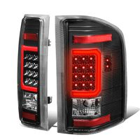 07-13 Chevy Silverado / GMC Sierra C-Shaped Tube LED Tail Lights - Black