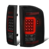 07-13 Chevy Silverado / GMC Sierra C-Shaped Tube LED Tail Lights - Black Smoked