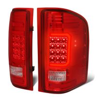 07-13 Chevy Silverado / GMC Sierra C-Shaped Tube LED Tail Lights - Red