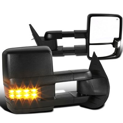 07-13 Chevy Silverado / GMC Sierra Heated Power LED Signal Tow Mirrors - Amber