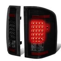07-13 Chevy Silverado / GMC Sierra LED Tail Lights - Black Smoked