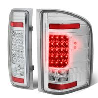 07-13 Chevy Silverado / GMC Sierra LED Tail Lights - Chrome