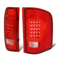 07-13 Chevy Silverado / GMC Sierra LED Tail Lights - Red Clear
