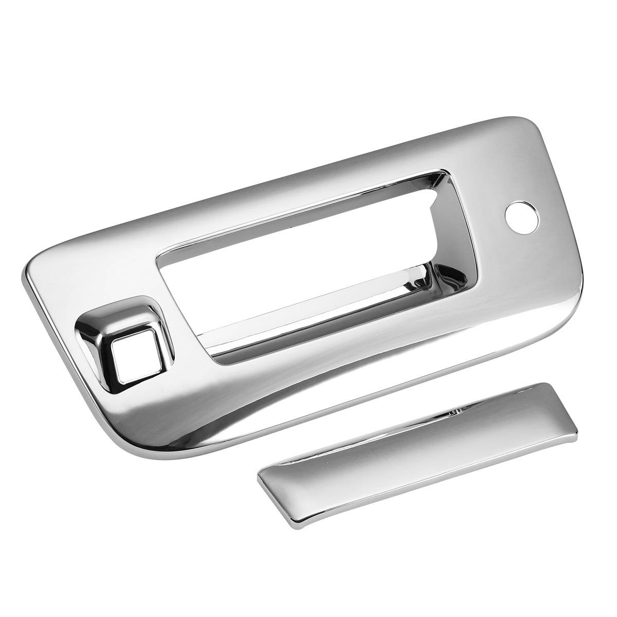 For Chevy 07-13 Silverado Chrome Tailgate Trunk Handle Cover W// Camera Hole