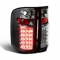 07-14 Chevy Silverado Pickup Truck Bright LED Tail Lights - Black