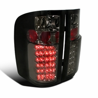 07-14 Chevy Silverado Pickup Truck Bright LED Tail Lights - Smoked
