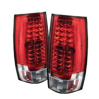 07-13 Chevy Suburban / Tahoe / Yukon Performance LED Tail Lights - Red / Clear ALT-YD-CSUB07-LED-RC By Spyder