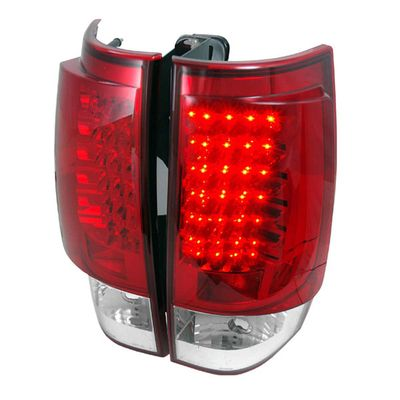 07-13 Chevy Suburban / Tahoe / Yukon Performance LED Tail Lights - Red / Clear