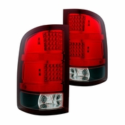 07-13 GMC Sierra [Do not fit 3500] LED Tail Lights - Red Clear