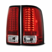 07-13 GMC Sierra Pickup Truck LED Tail Lights - Red ALT-YD-GS07-LED-RC By Spyder