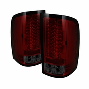 07-13 GMC Sierra Pickup Truck LED Tail Lights - Red / Smoked ALT-YD-GS07-LED-RS By Spyder