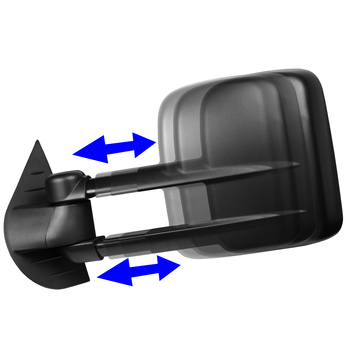 FOR 07-13 YUKON//TAHOE LEFT SIDE MANUAL ADJUSTMENT//TELESCOPING TOW TOWING MIRROR
