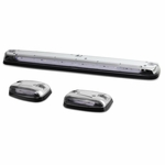 07-13 Silverado / Sierra GMT900 LED Cab Roof Top Center Running Light + Pair Side Lamps - Clear Housing / White Light
