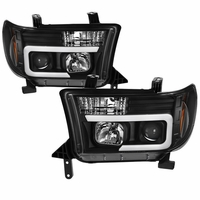 07-13 Toyota Tundra / 08-17 Sequoia LED Tube Projector Headlights - Black