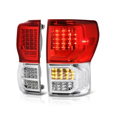 07-12 Toyota Tundra Euro Style Bright LED Tail Lights - Red Clear By Spyder