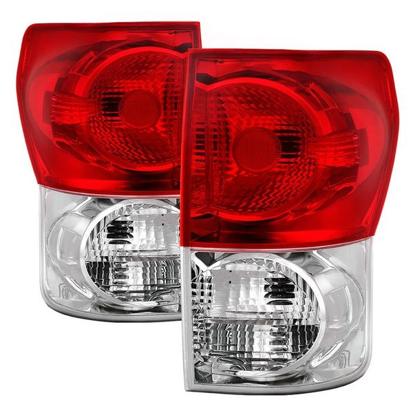 07-13 Toyota Tundra OE-Style Tail Lights - Red Clear