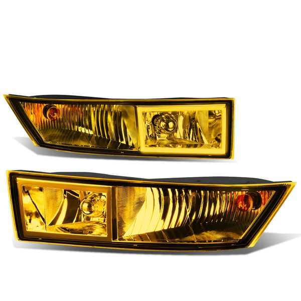 07-14 Cadillac Escalade ESV EXT Pair of Bumper Driving Fog Lights + Switch (Amber Lens)