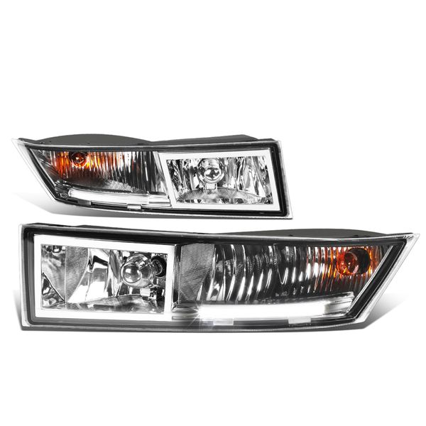 07-14 Cadillac Escalade ESV EXT Pair of Bumper Driving LED DRL Fog Lights - Clear