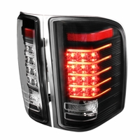07-14 Chevy Silverado LED Tail Brake Lights - Black