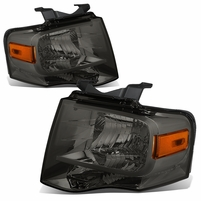 07-14 Ford Expedition OE-Style Replacement Headlight Set - Smoked / Amber