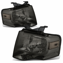 07-14 Ford Expedition OE-Style Replacement Headlight Set - Smoked / Clear