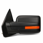 07-14 Ford F150 Black Powered Heated Glass + Turn Signal Light Side Towing Mirror (Left/Driver)