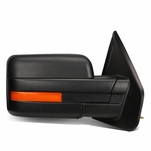 07-14 Ford F150 Black Powered Heated Glass + Turn Signal Light Side Towing Mirror (Right/Passenger)