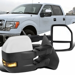 07-14 Ford F150 Pickup Power Heat Chrome Telescoping Tow Mirrors+Smoke LED Signal