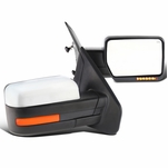 2007-2014 Ford F150 Chrome Power Side Mirrors+Heat/Defrost+LED Signal+Puddle