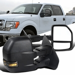 07-14 Ford F150 Power Heated Towing Side Mirrors+Smoke LED Signal Left+Right