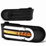 07-14 Toyota FJ Cruiser 3D LED DRL+Sequential Turn Signal Bumper Lights Smoked/Clear