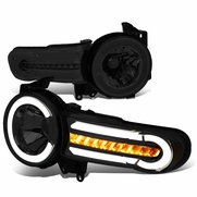 07-14 Toyota FJ Cruiser LED DRL [Sequential Signal] Halo Headlights - Smoked Amber