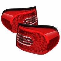 07-14 Toyota FJ Cruiser LED Tail Lights - Red Clear