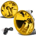 07-15 Chevy/GMC GMT900 Truck Pair of Bumper Round Driving Fog Lights+Switch (Amber Lens)
