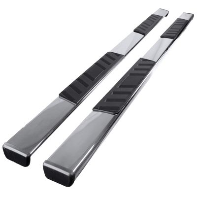 "07-2020 Toyota Tundra [CrewMax Cab] 4"" Flat-Style Side Step Nerf Bar Running Board - Chrome"