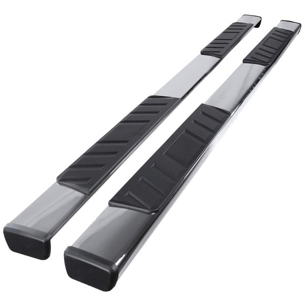 07-20 Toyota Tundra [Double Cab] 4-inch Flat-Style Side Step Nerf Bar Running Board - Chrome