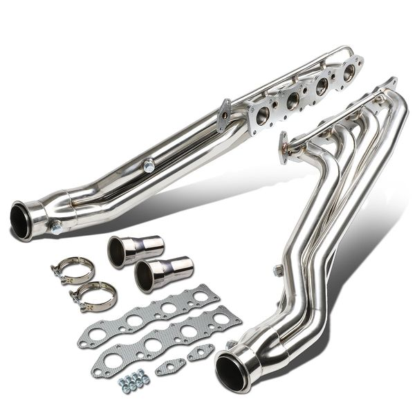 07-16 Toyota Tundra Dual 4-1 Long Tube Exhaust Header Manifold+Collector Reducers