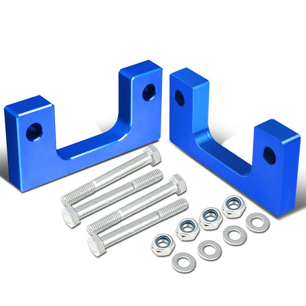 """07-17 Chevy/GMC Silverado/Sierra Blue Front 1"""" Aluminum Low Mount Leveling Lift Kit Spacers"""