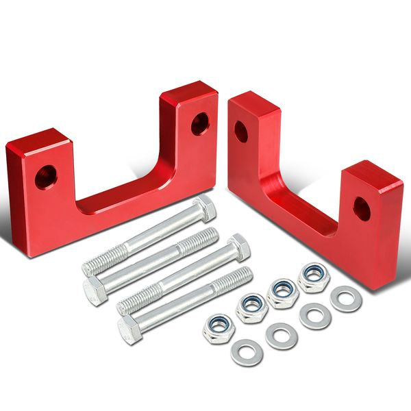"""07-17 Chevy/GMC Silverado/Sierra Red Front 1"""" Aluminum Low Mount Leveling Lift Kit Spacers"""