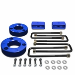 "07-17 Chevy Silverado / GMC Sierra [1500 Model] Blue 2.5"" Front 2"" Rear High Mount Leveling Lift Kit Spacers + Blocks"