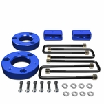 "07-17 Chevy Silverado / GMC Sierra [1500 Model] Blue 2"" Front 2"" Rear High Mount Leveling Lift Kit Spacers + Blocks"