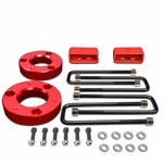 "07-17 Chevy Silverado / GMC Sierra [1500 Model] Red 2"" Front 2"" Rear High Mount Leveling Lift Kit Spacers + Blocks"