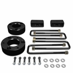 "07-17 Chevy Silverado / GMC Sierra Black 3"" Front 2"" Rear High Mount Leveling Lift Kit Spacers + Blocks"