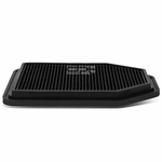 07-17 Jeep Wrangler 3.6L / 3.8L Reusable & Washable Replacement High Flow Drop-in Air Filter (Black)